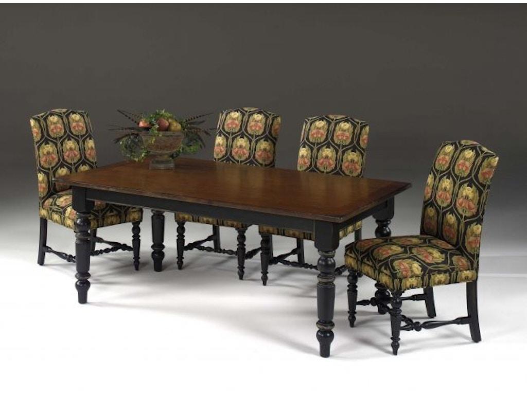 Designmaster dining room quakertown dining table 07 544b for Dining room johnson city tn