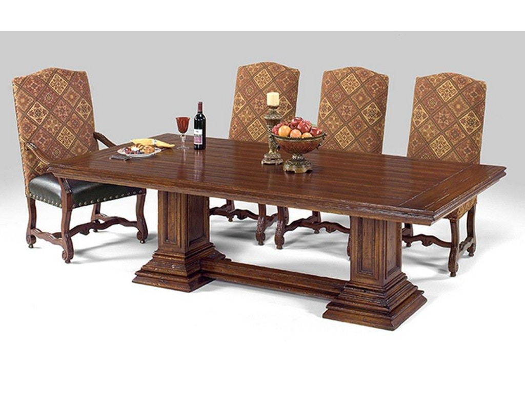 Designmaster dining room wellington dining table 07 560 for Table design odessa fl
