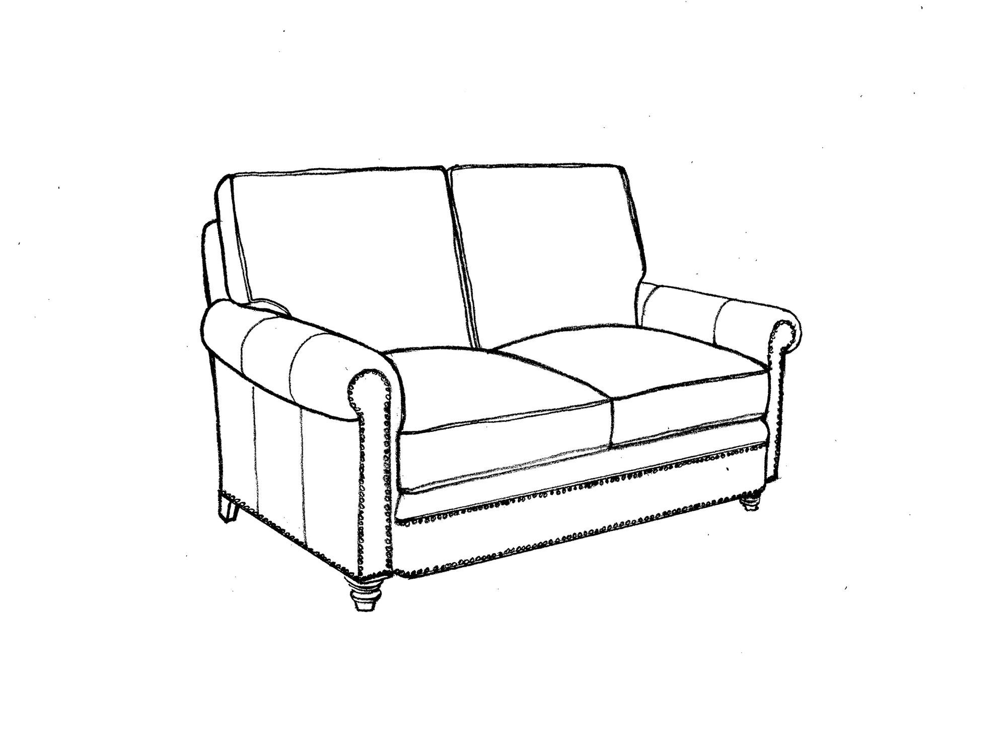 Our House Designs 390 60 Living Room Loveseat