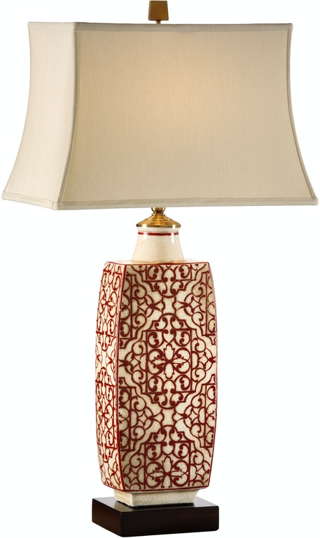 Wildwood Lamps And Lighting Embroidered Bottle Lamp Red 12508 Toms