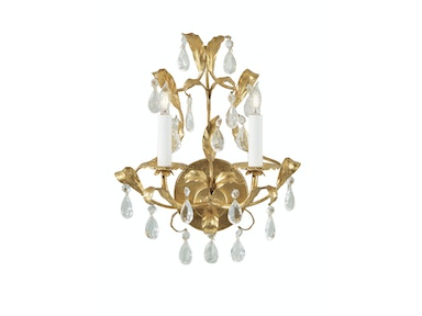Wildwood Lamps Gold And Crystal Sconce 2214