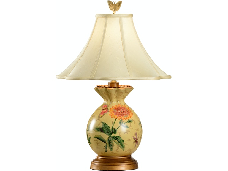 Wildwood Lamps And Lighting Gathered Vase Lamp 6614 Hollbergs