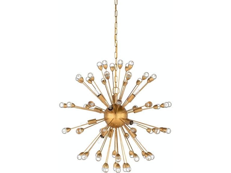 Wildwood Lamps And Lighting Saturn Chandelier Gold 67204
