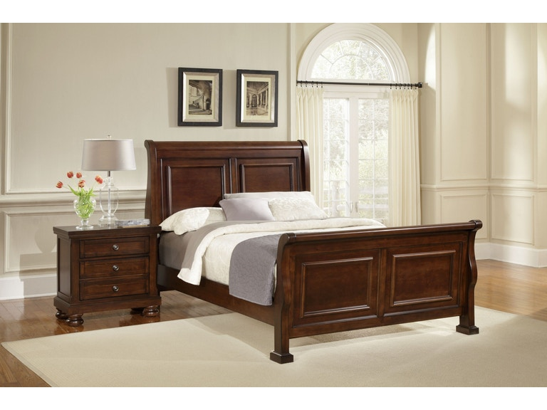 Vaughan Bassett Furniture Company Bedroom Reflections Sleigh King