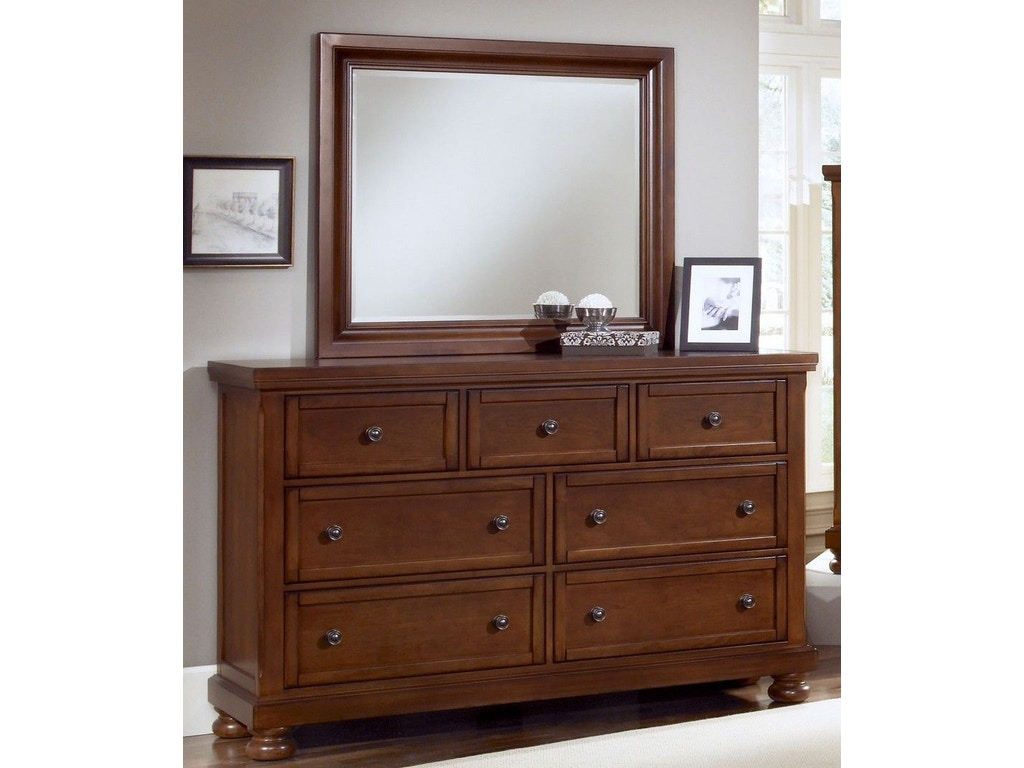 Vaughan Bassett Furniture Company Bedroom Triple Dresser 532 002 Flemington Department Store