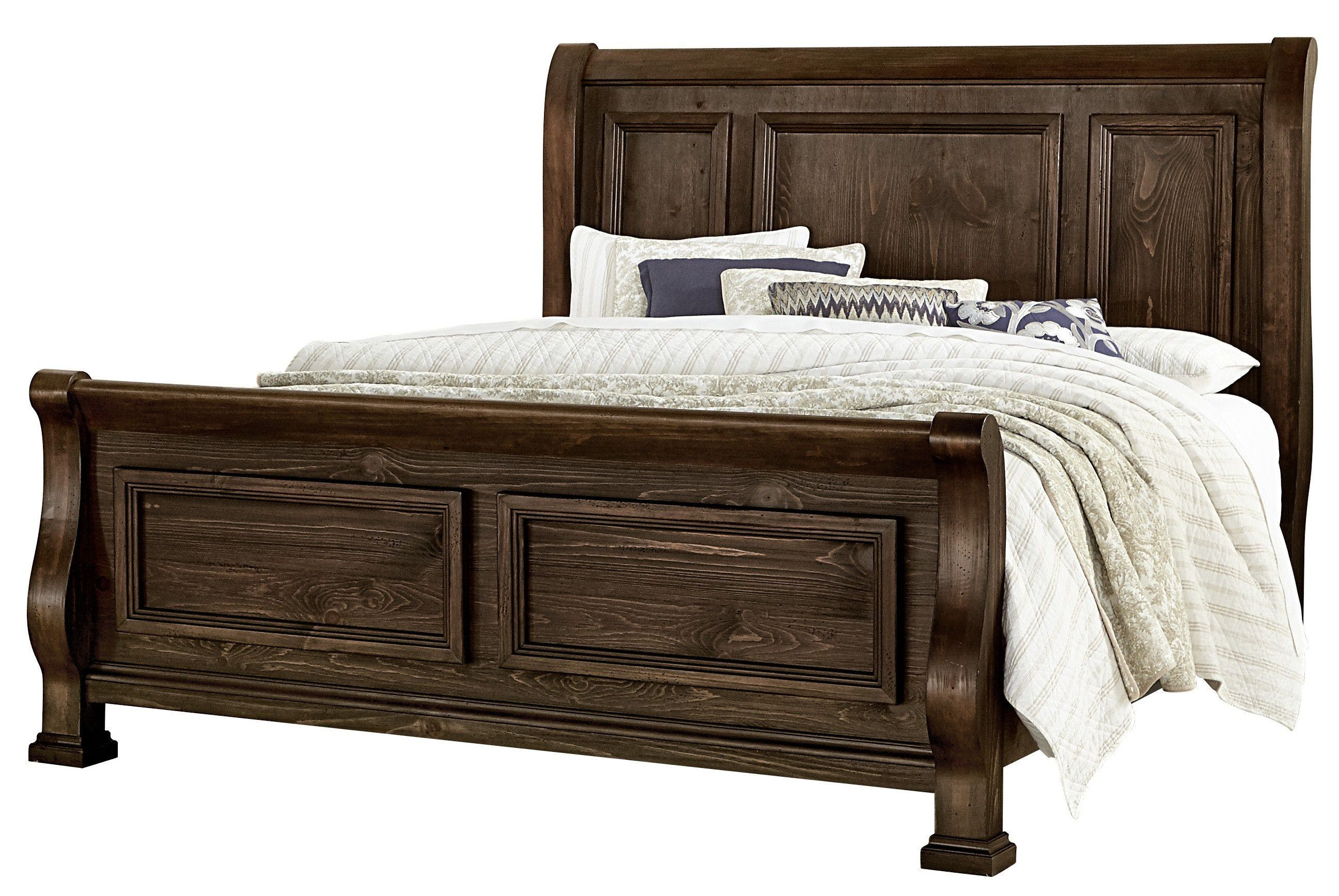 Vaughan Bassett Furniture Company King Sleigh Bed 680 663 366 922 Ms1 In Newnan Knox Furniture