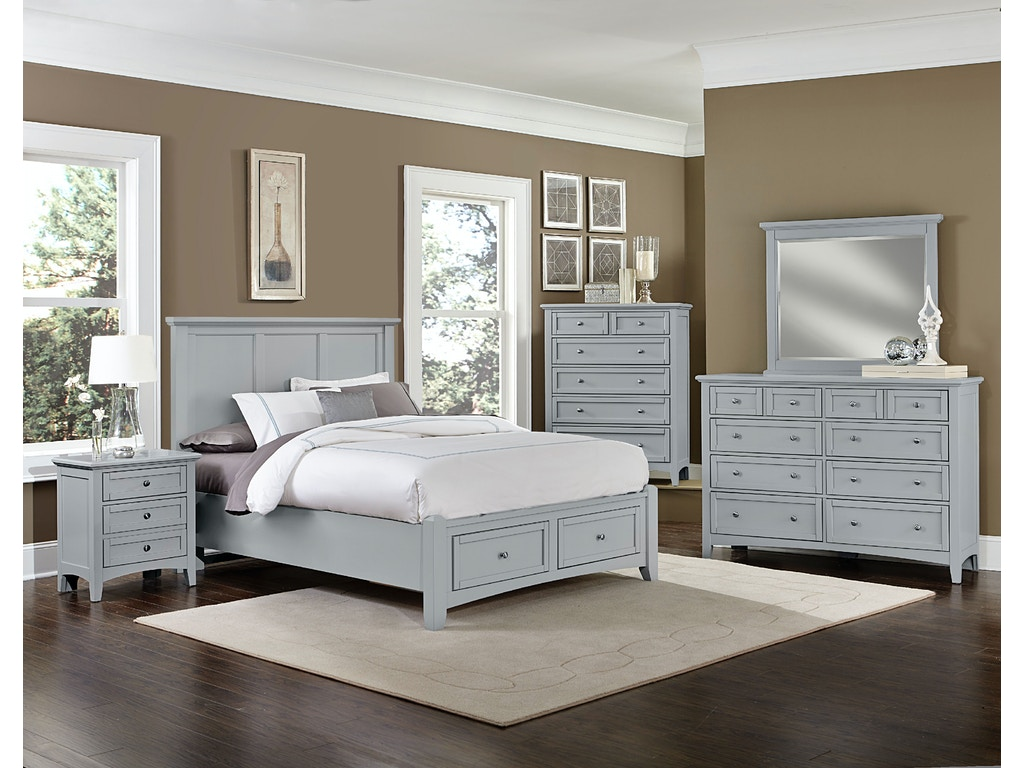Vaughan-Bassett Furniture Company Grey Triple Dresser BB26-002