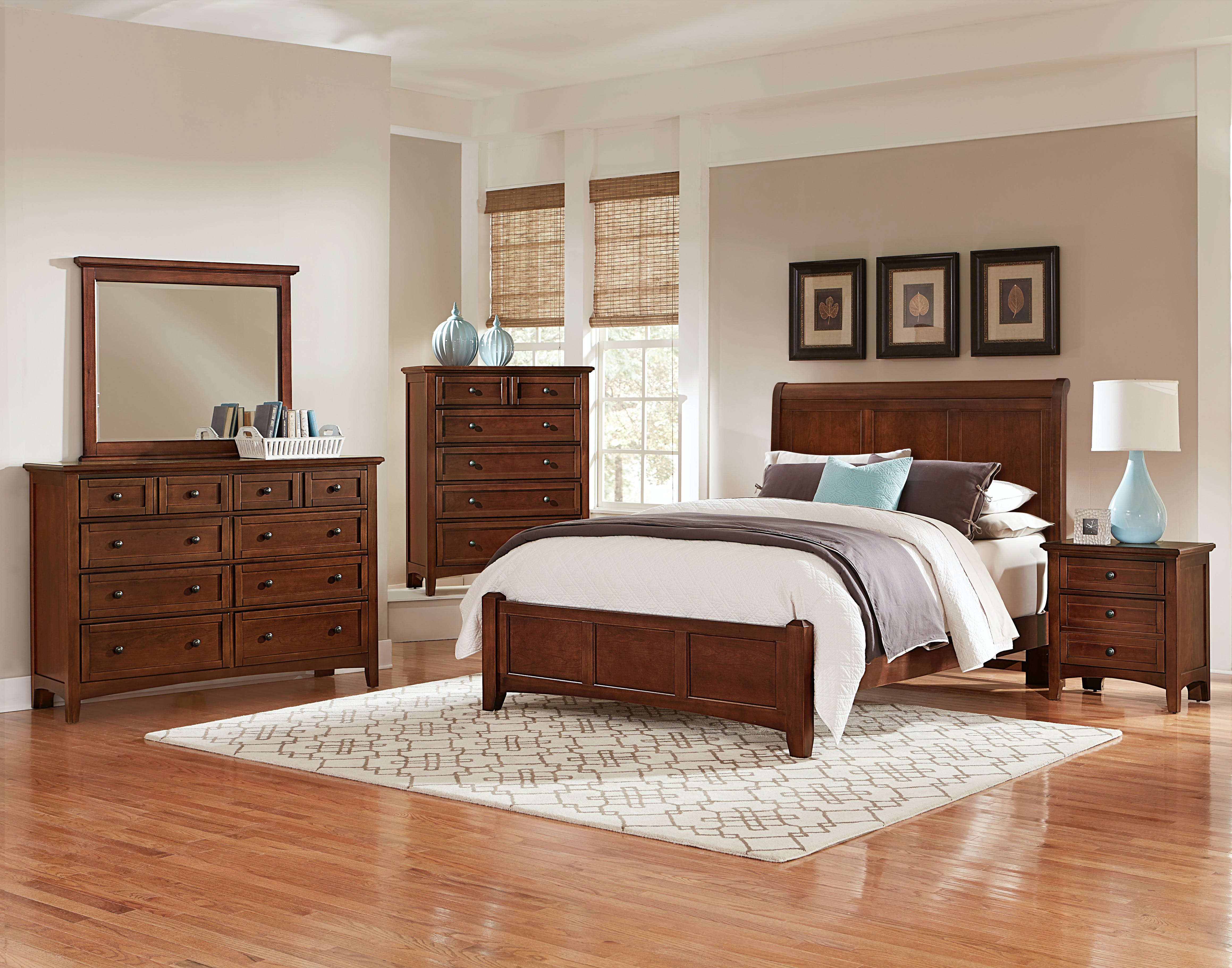 Vaughan Bassett Furniture Company Youth Queen Sleigh Bed Bb28 553 855 922 Woodcrafters Furniture