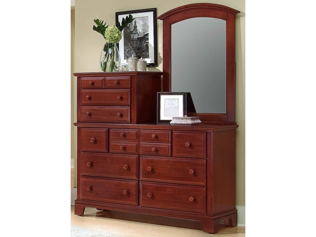 Vaughan bassett bedroom vanity dresser bb5 003 hickory for Bassett bedroom furniture