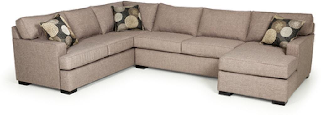 Stanton Furniture Living Room Bennett Paraline Sectional 146