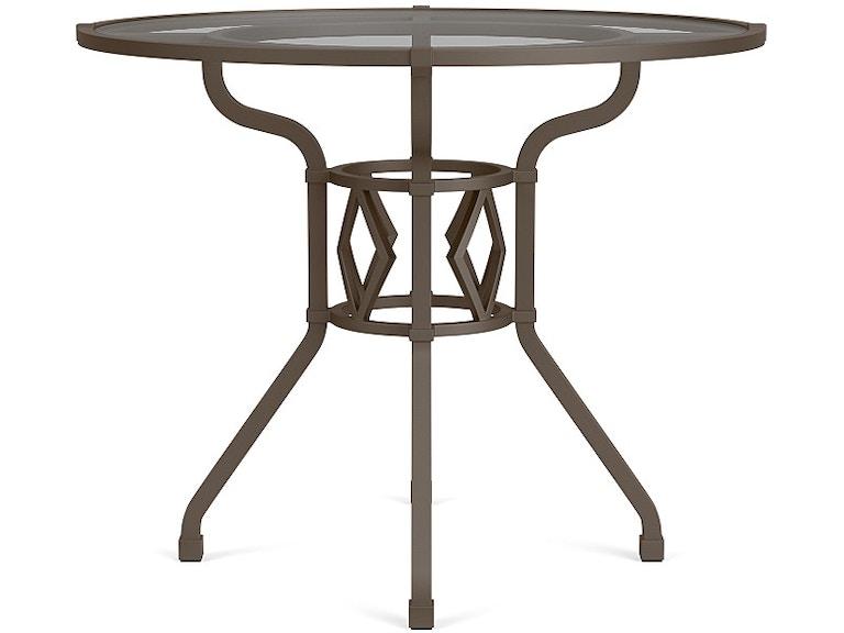 Brown Jordan OutdoorPatio Round Dining Table With Glass Top - 36 round outdoor dining table