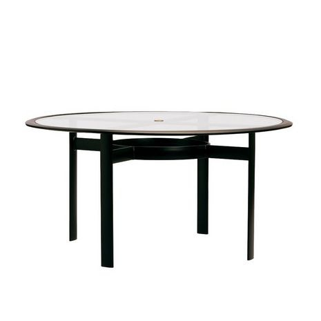 Brown Jordan 54 Round Dining Table Glass Umbrella Top 3476 5400