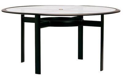 54 54 Glass Table Top: Brown Jordan Outdoor/Patio 54 Round Dining Table Glass