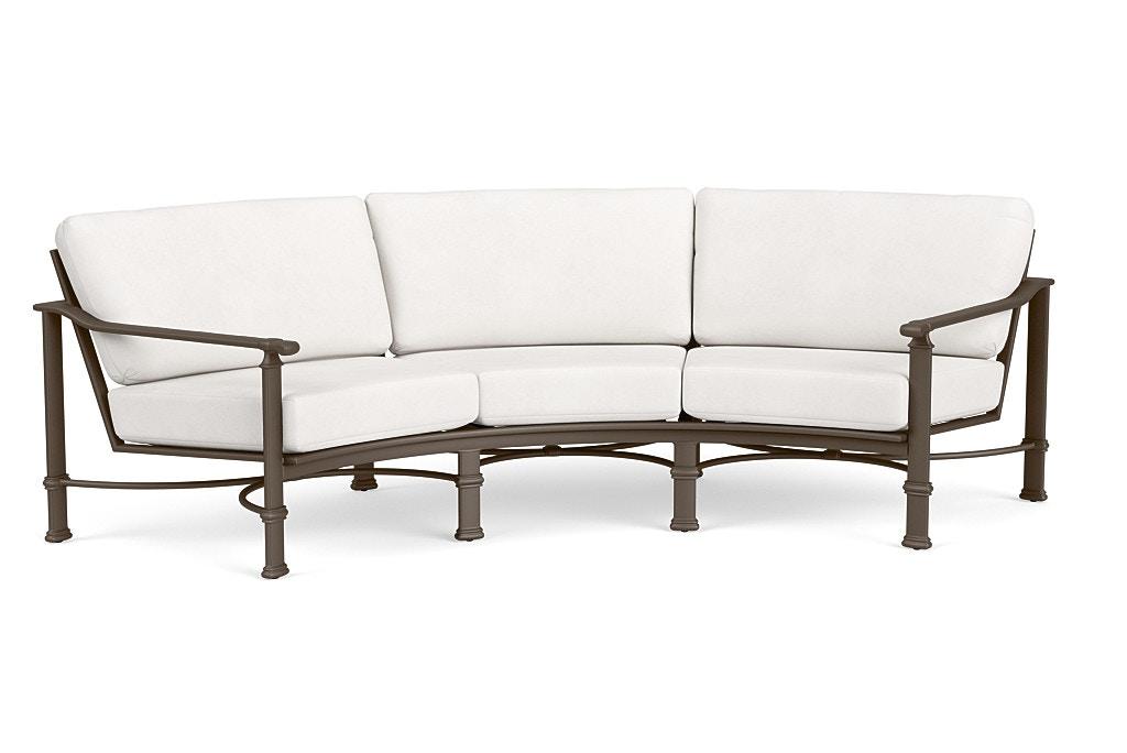 brown jordan curved sofa