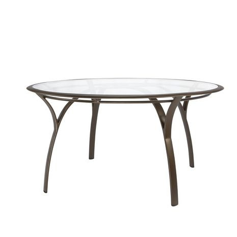 Brown Jordan 54 Round Dining Table With Glass Top 5191 5400