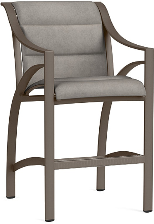 Brown Jordan OutdoorPatio Bar Chair With Padded 5240-3500