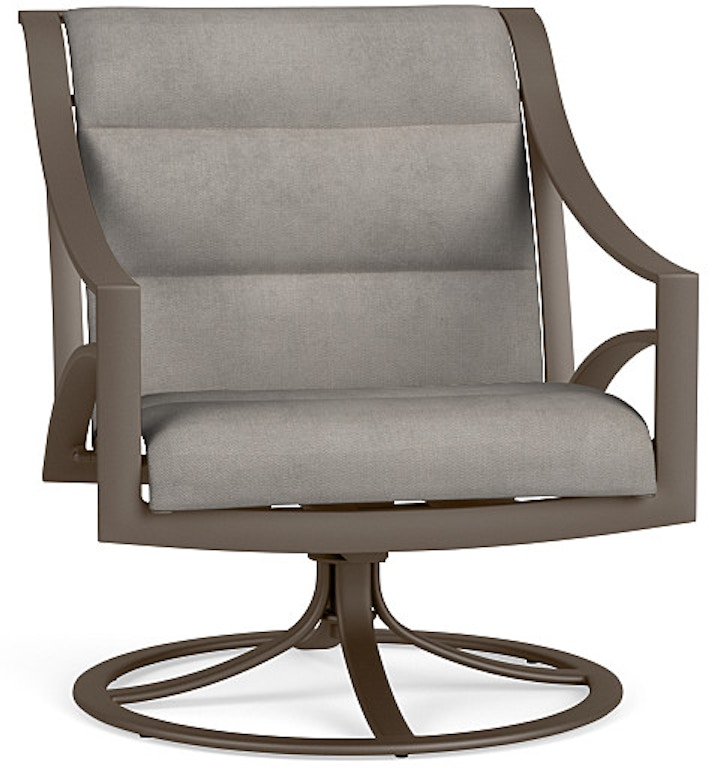Sensational Brown Jordan Outdoor Patio Swivel Motion Lounge Chair With Machost Co Dining Chair Design Ideas Machostcouk