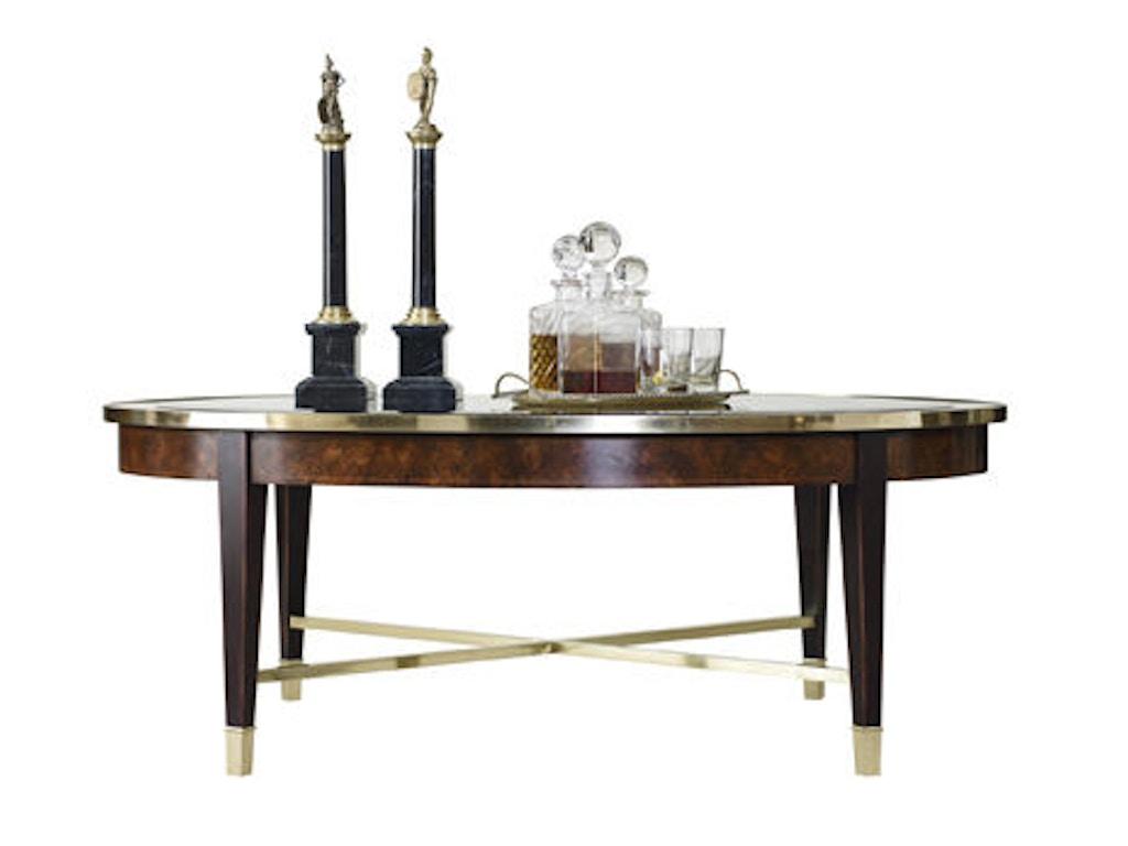 Henredon Living Room Oval Cocktail Table 2800 40g Lenoir