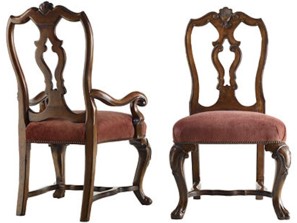 Henredon dining room torino arm chair 4400 27 lenoir for Dining room johnson city tn