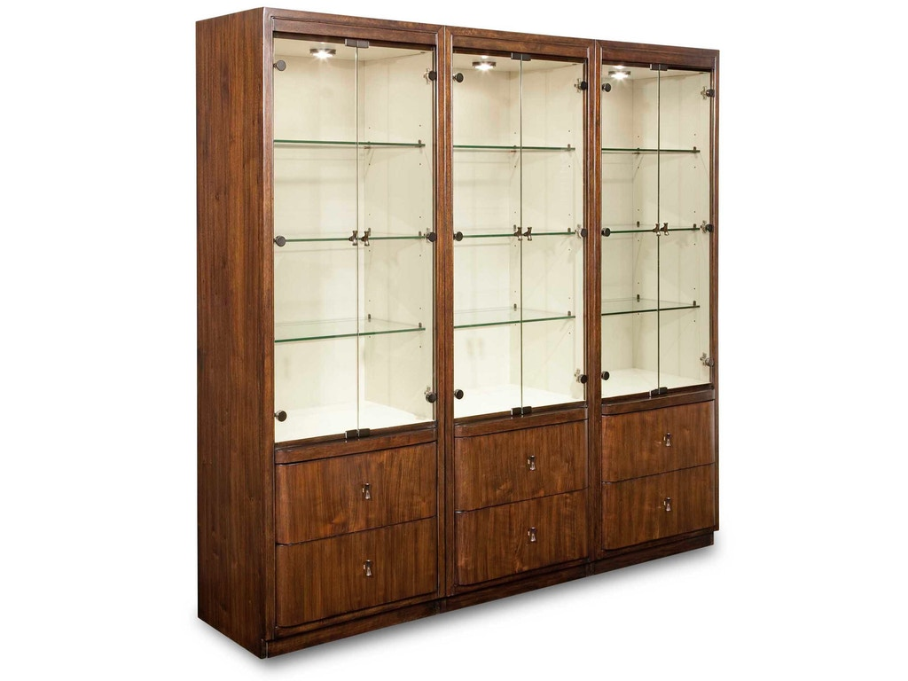Drexel heritage dining room vista display cabinet 200 550 for Kitchen cabinets johnson city tn