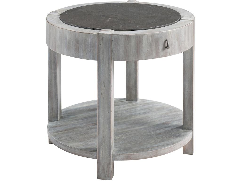 drexel accessories jule round end table 325 840 mccreerys home furnishings sacramento. Black Bedroom Furniture Sets. Home Design Ideas