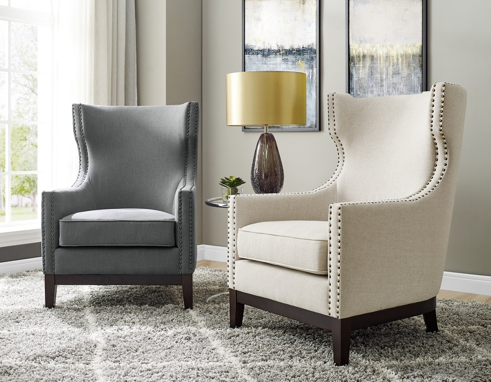 Steve Silver Living Room Roswell Linen Accent Chair