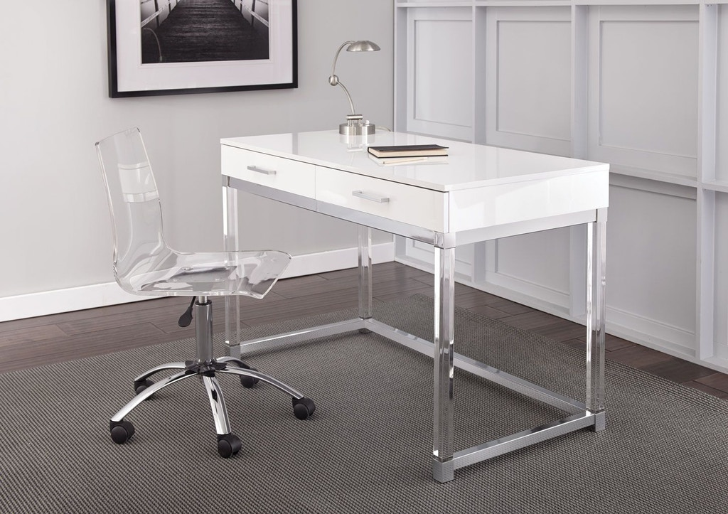 Steve Silver Home Office Everett Desk White Et200dw