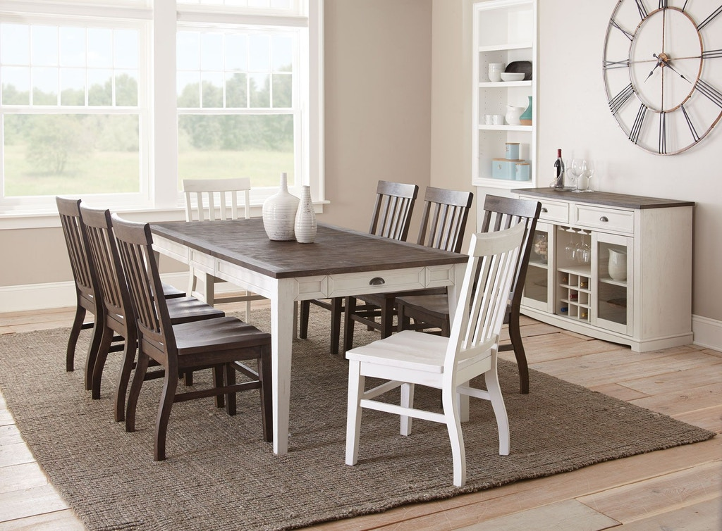 Swell Steve Silver Dining Room Cayla Table Dark Oak White Caraccident5 Cool Chair Designs And Ideas Caraccident5Info