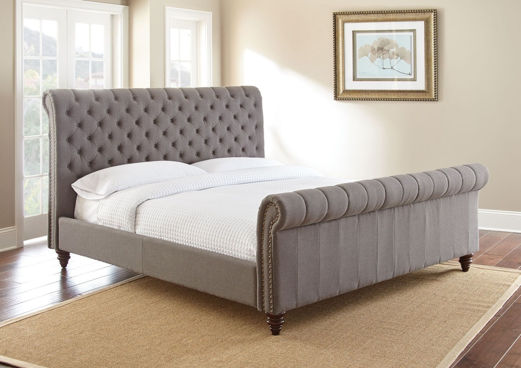 newest 0f1f9 c22d0 Swanson Queen Gray Upholstered Headboard