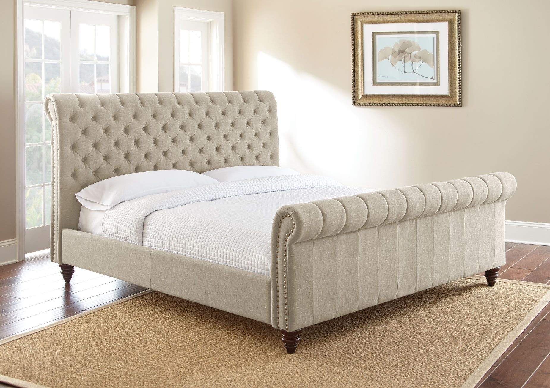 Steve Silver Swanson Queen Sand Upholstered Headboard SS100QHBS