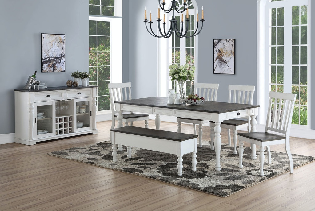 Pleasing Steve Silver Dining Room Joanna Two Tone Storage Bench Caraccident5 Cool Chair Designs And Ideas Caraccident5Info
