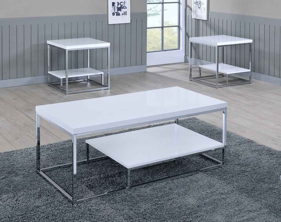 steve silver living room lucia cocktail table white