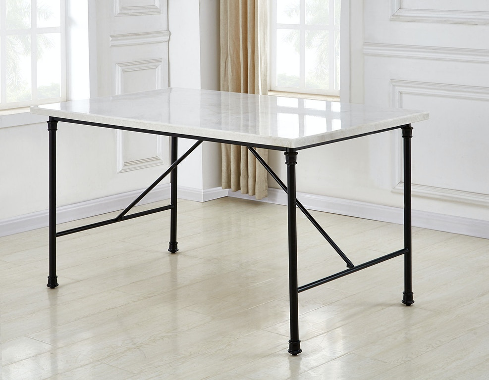 Steve Silver Claire White Marble Top Dining Table Cr540t In Elyria Olmsted Kaplan S Furniture