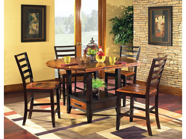 Steve Silver Dining Room Abaco Drop Leaf Counter Table Top Ab200pt At High Point Furniture