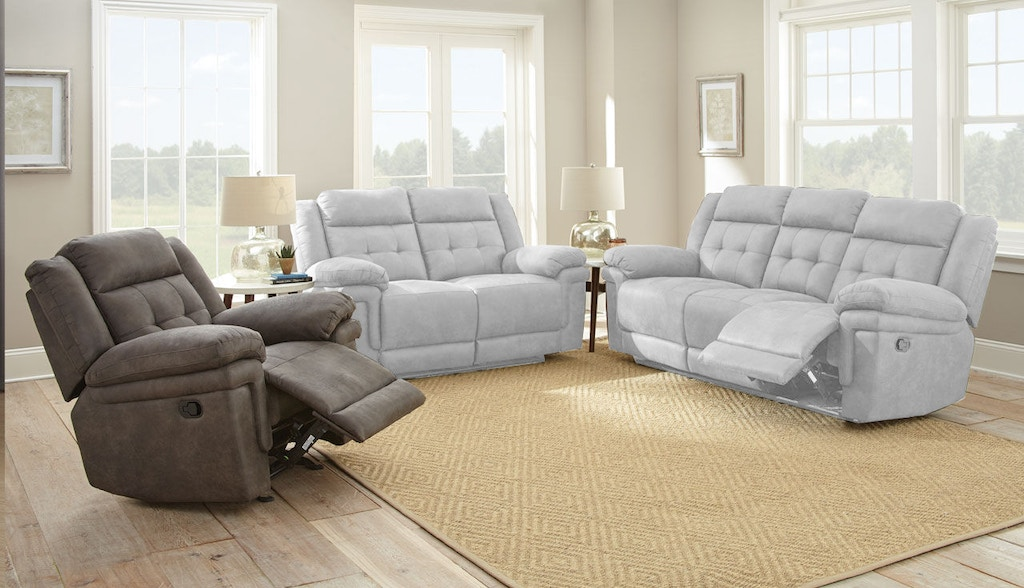 Steve Silver Living Room Anastasia Glider Recliner Chair Grey At850c Carol House Furniture