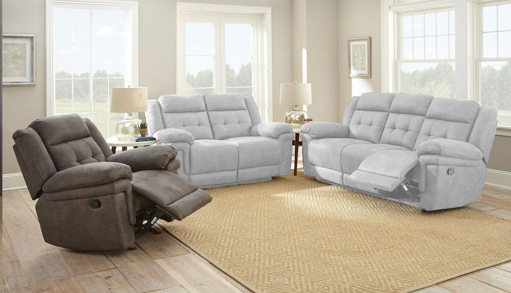 Steve Silver Living Room Anastasia Glider Recliner Chair Grey At850c Carol House Furniture
