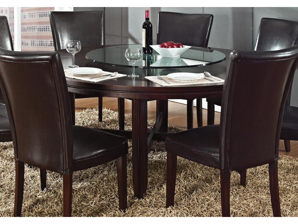 steve silver dining room hartford round dining table hf7272t carol house furniture maryland. Black Bedroom Furniture Sets. Home Design Ideas
