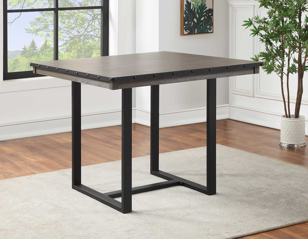 Steve Silver Dining Room Lori 46 Inch Square Dining Table Lr4646ptg Carol House Furniture