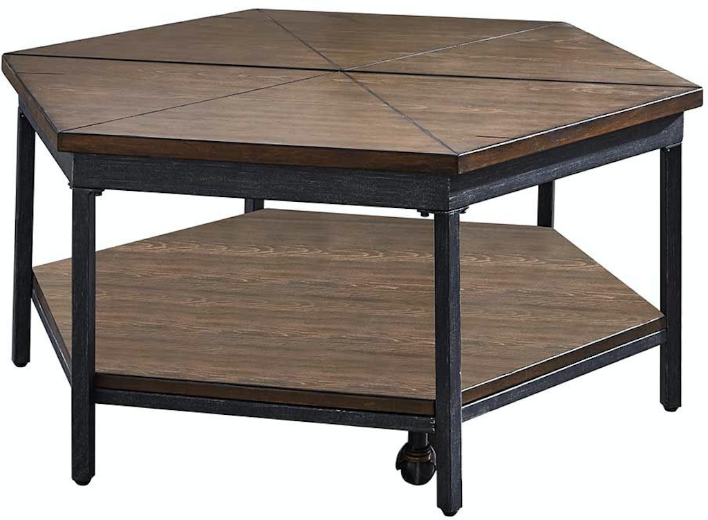 Steve Silver Ultimo Hexagon Lift Top Tail Table With Casters Um200cl