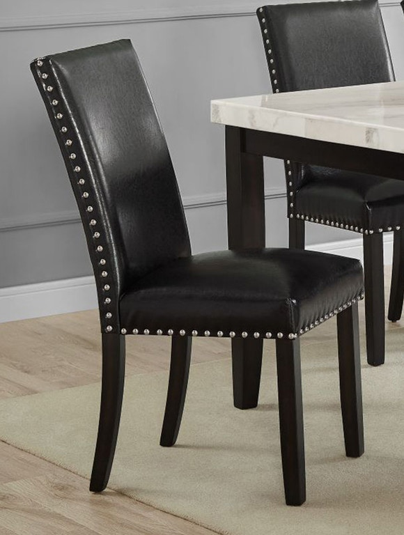 Steve Silver Dining Room Westby Black PU Side Chair with ...