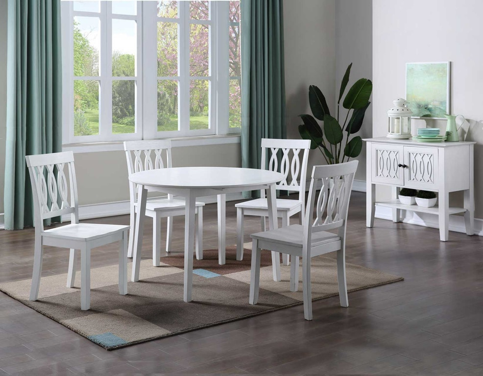 Silver Dining Table And Chairs, Steve Silver Dining Room Naples 5 Piece Drop Leaf Dining X Virtual 430 Carol House Furniture