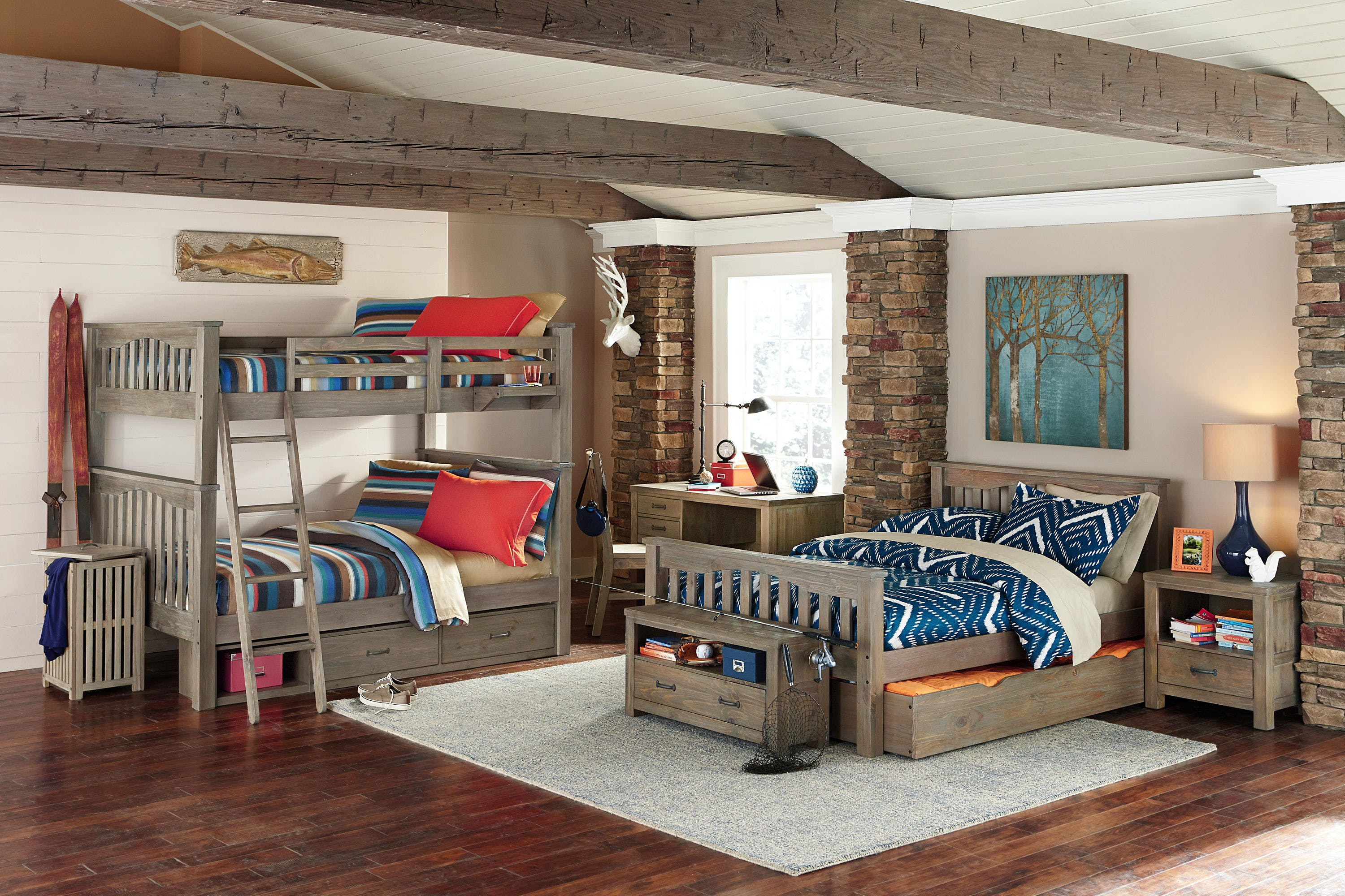 Hillsdale Kids And Teen Youth Highlands Harper Full Over Full Bunk With Storage 10055 2ns China