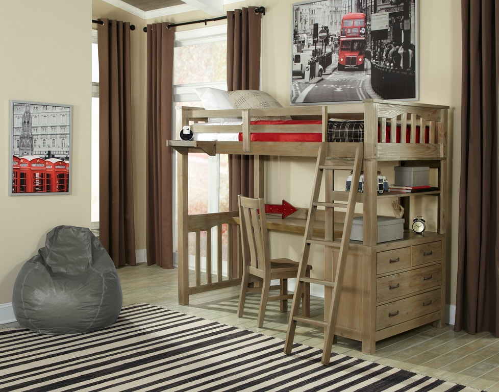 Hillsdale Kids and Teen Youth Highlands Twin Loft Bed With ...
