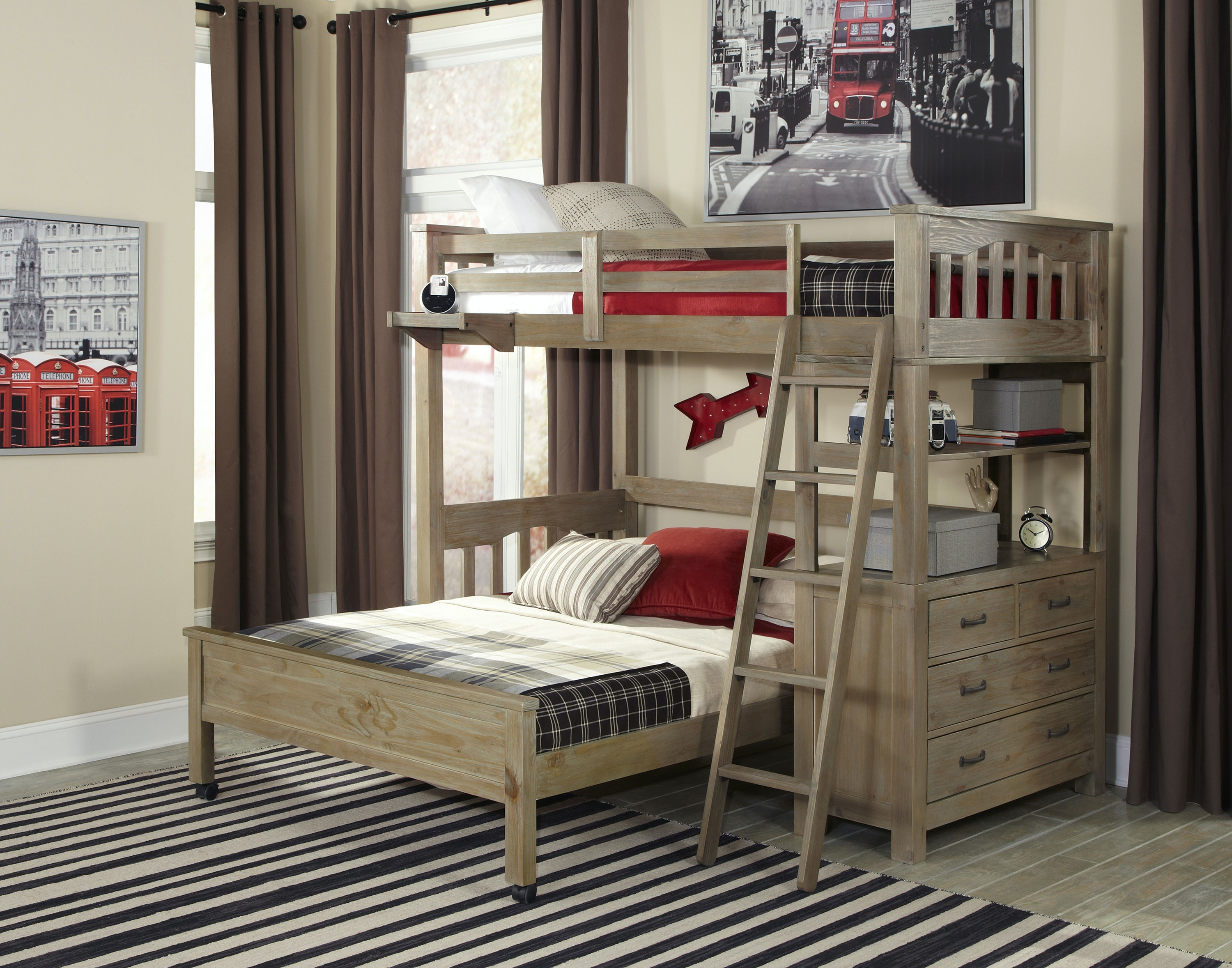 Hillsdale Kids And Teen Youth Highlands Twin Loft Bed With Full