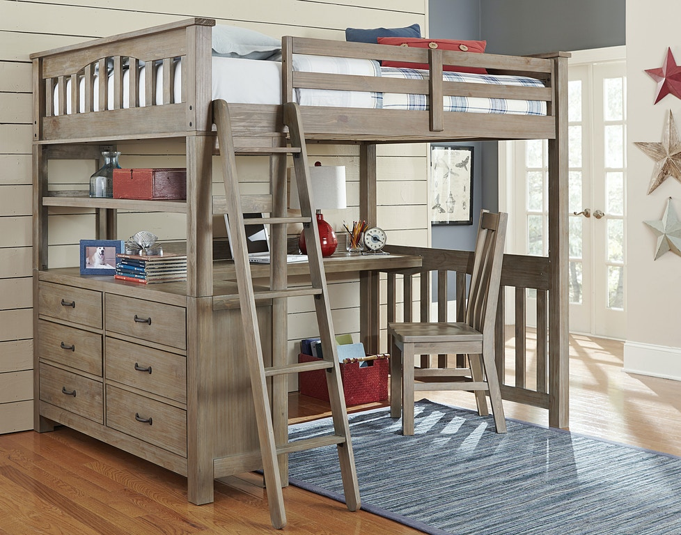 Hillsdale Kids And Teen Youth Highlands Full Loft Bed With Desk 10080nd Aminis