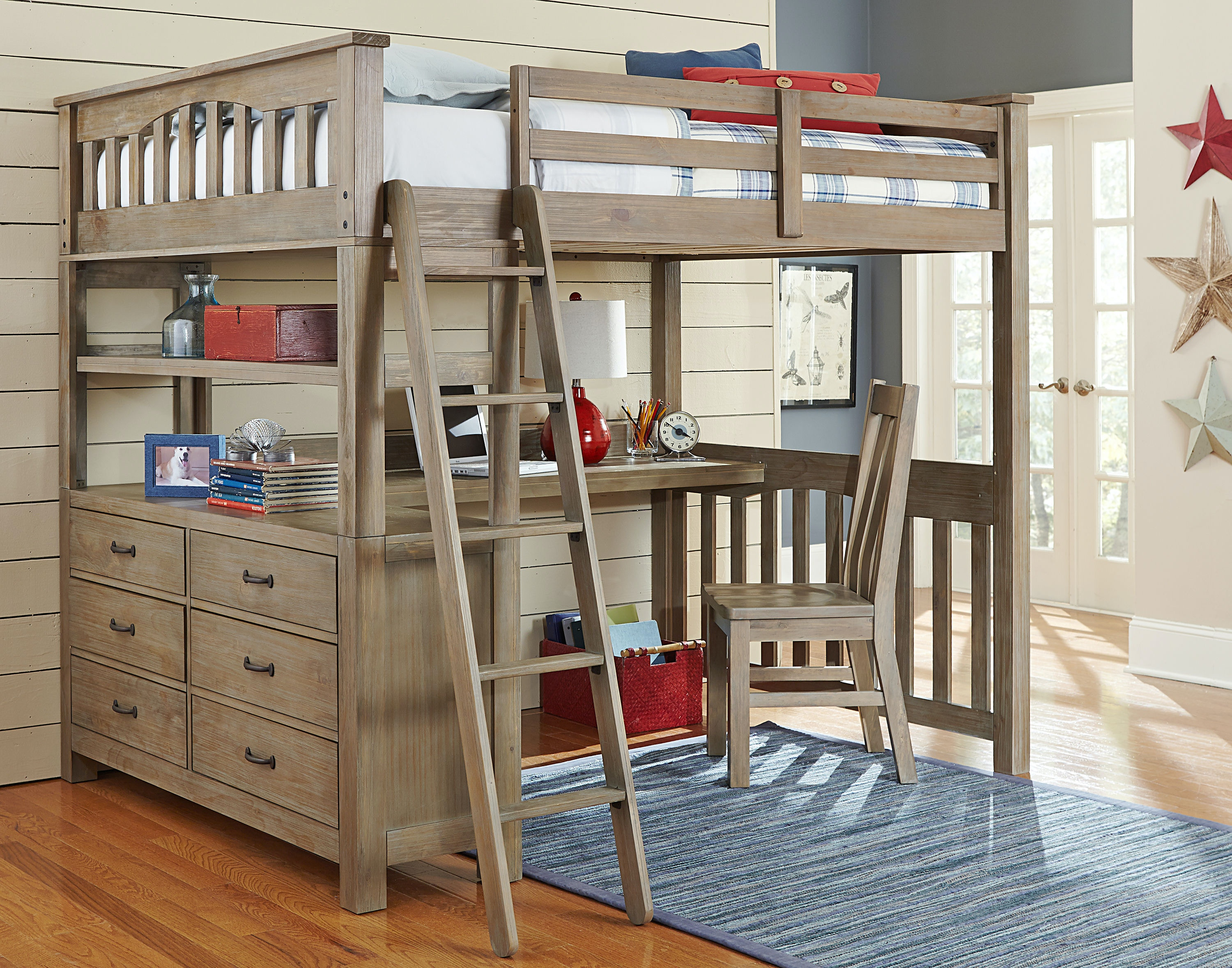 Full Loft Bed With Desk For Teens Hillsdale Kids and Teen Highlands Full Loft Bed With Desk And Chair 10080NDC