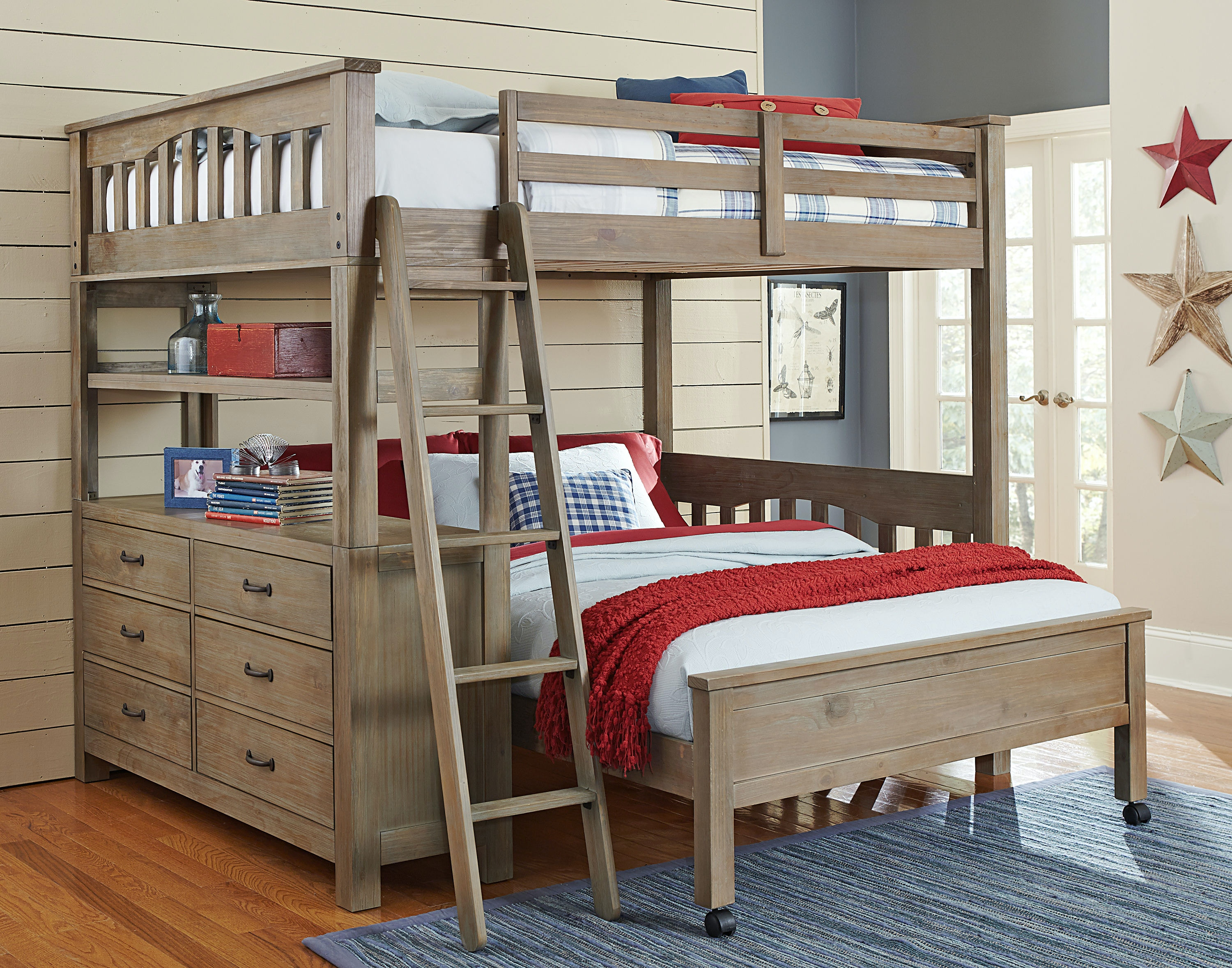 Hillsdale Kids And Teen Highlands Full Loft Bed With Full Lower Bed  10080NLFB
