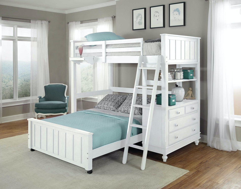 hillsdale kids and teen youth lake house twin loft with full lower bed 1040nlfb carol house. Black Bedroom Furniture Sets. Home Design Ideas
