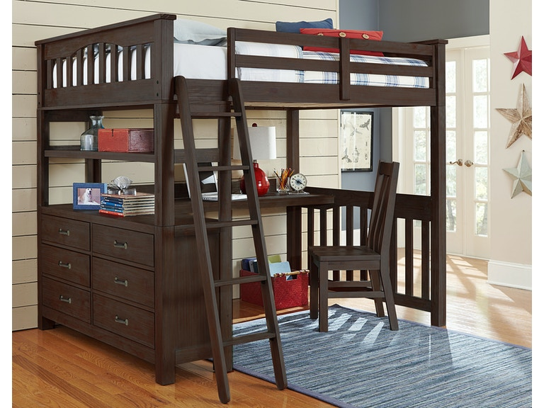 Hillsdale Kids And Teen Youth Highlands Full Loft Bed With Desk