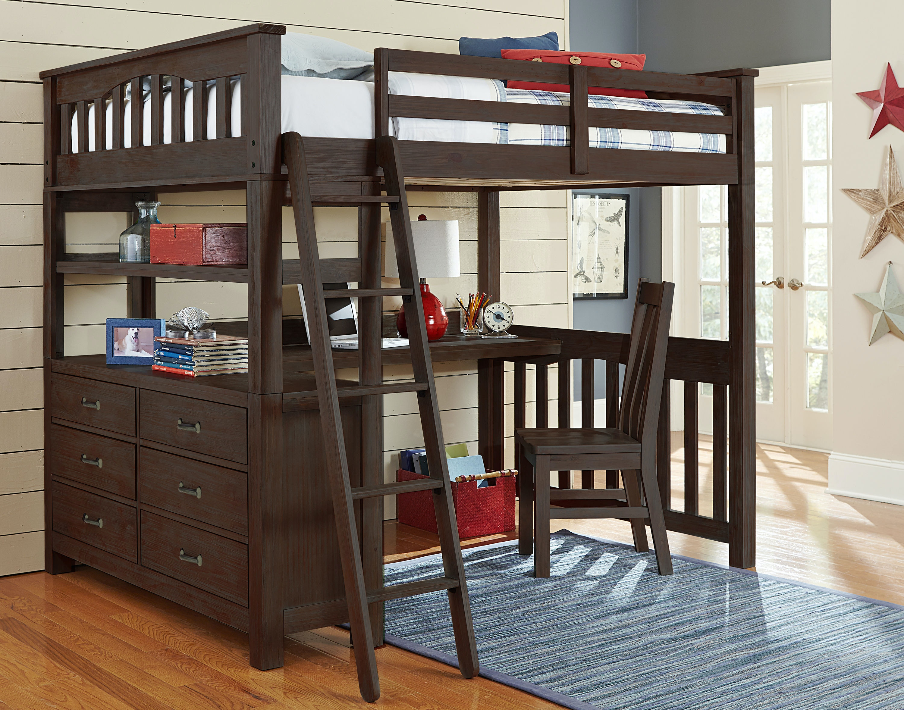 Hillsdale Kids And Teen Highlands Full Loft Bed With Desk 11080ND